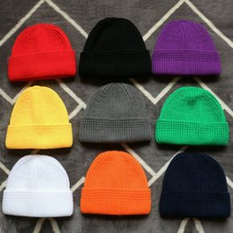 $enCountryForm.capitalKeyWord NZ - DIY Solid Beanies Winter Cuffed Short Melon Hats For Women Men Bonnet Hip Hop Ladies Caps Elastic Skullies Unisex Casual Knitted Skullcap