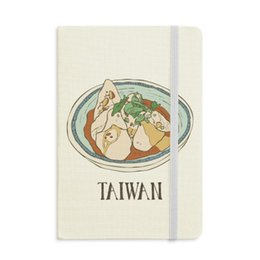 magnetic notebooks Australia - Food Beef noodles Taiwan Travel Notebook Fabric Hard Cover Classic Journal Diary A5