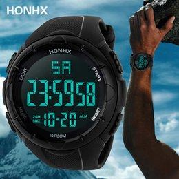 $enCountryForm.capitalKeyWord Australia - Luxury Sports Watch Men Analog Digital Silicone Sport LED Waterproof Wrist Watches Woche Men Relogio Masculino