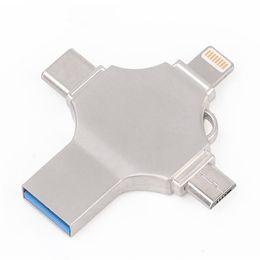 Ingelon USB Flash16 32 64 128 GB USB-C-Stick Typ C Verseutelde DIY-LOGO-Micro-USB-Speicherstick für iPhone-Telefone