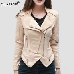 Leather Zippers Australia - 2017 Women Suede Leather Jackets New Fashion Short Side Zipper Female Solid Faux Leather Coats Ladies Moto Biker Overcoat