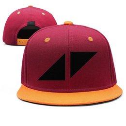 $enCountryForm.capitalKeyWord Australia - Avicii black logo Design Snapback Flat Bill Brim Baseball Caps Hip-Hop Trucker Hats Adjustable Sun Protection