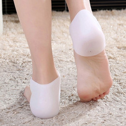 Skin Relief Massager Australia - 2pcs pair Silicone Moisturizing Gel Heel Socks Cracked Foot Skin Care Protector Pain Relief Feet Massager Foot Care