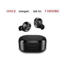 Best Waterproof Stereo Australia - Best Mini Size Waterproof Wireless Earphone Touch Control TWS 5.0 Bluetooth Headphone with Dual Microphone Stereo Music Earbuds