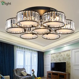 $enCountryForm.capitalKeyWord Australia - American Lustre RH Crystal Chandelier Lustre Led Chandelier For Living Room Black Metal Ceiling Chandelier Lighting Lamparas Fixtures