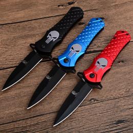 Tactical Defense Gear Australia - Cheap Version Skull Assisted Fast Open Tactical Folding Knife 440C Single Edge Black Blade Aluminum Handle EDC Gear