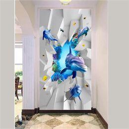$enCountryForm.capitalKeyWord Australia - custom size 3d photo wallpaper living room porch Marine World Dolphin Stone 3d picture sofa TV background wall wallpaper non-woven sticker