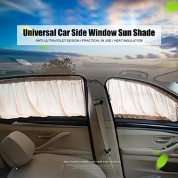 drop shades Canada - Universal Car Side Window Sun Shade Curtains Auto Windows Curtain Drape with Other Accessories for Car Styling Drop Shipping