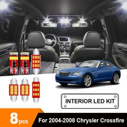led courtesy lights white Canada - 8 x White Ice Blue Canbus Car LED Light Trunk Courtesy Glove Box License Plate Bulb Package Kit For 2004-2008 Crossfire
