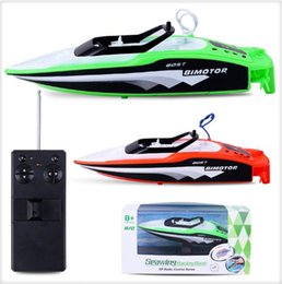 Gift Boat Australia - Micro RC Racing Boat Remote Control Speedboat 2.4GHz Rechargable Mini Electric RC Boat Boy Gift Kid Toy