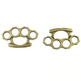 $enCountryForm.capitalKeyWord UK - 20Pcs Bronze Tone Hollow 24x14mm Bear s Paw Charm Pendants Jewelry Making Connectors Self-defense Finger Knuckles boxing tiger Tool