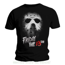 friday 13th jason mask UK - Official Black T Shirt Friday 13th Slasher Horror Mask Jason Voorhees On Sale New Fashion Summer