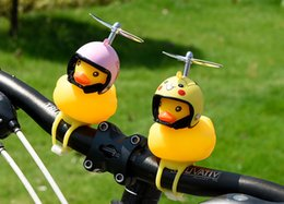 $enCountryForm.capitalKeyWord Australia - Interest toys Little yellow duck Children's Bicycle Helmet Motorcycle Horn Light luminous flash Bamboo small yellow duck