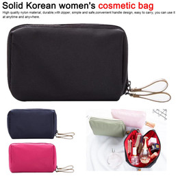 $enCountryForm.capitalKeyWord Australia - Cosmetic Bag Solid Color Women Cosmetic Makeup Bag Brush Case Waterproof Professional Travel Organizer Make Up Toiletry Kit
