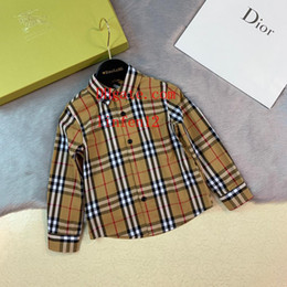 $enCountryForm.capitalKeyWord Australia - 2019 brand kids shirt kids clothes girls unisex lapel cotton plaid long-sleeved shirt children tops high quality baby girl clothes AB-1