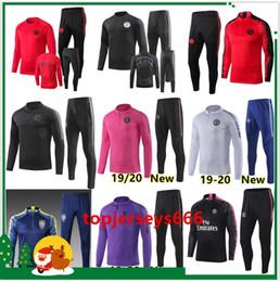 eb0f34d5 Новый футбольный спортивный костюм на 2019-2020 гг. 18/19/20 мужской  тренировочный костюм для футбола psg