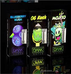 Quality Folding Fans Australia - Empty Dank Vapes pen Cartridge thick oil G5 best quality leakproof Ceramic Cell glass atomizer Newest black box