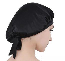 Discount dark green hair dye - 100% Silk Sleep Cap for Women & Girls Best Quality Silk Satin Sleeping Hat Cap Night Bonnet Head Cover for Natural Hair