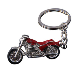 Motorcycle Metal Keychains Australia - New Motorcycle Key Chain Charm metal keychain men women Car Key Ring 4 color key holder best gift jewelry