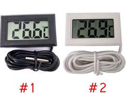 Toptan satış Mini LCD Dijital Termometre Hassas Dijital Sıcaklık Ölçer Sıcaklık Enstrüman Sensörü Su geçirmez Tasarım Analiz Sıcaklık Ölçer -50 ~ 110C LSK166