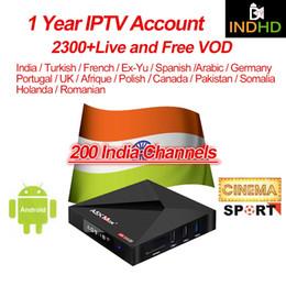 Arabic Tv Boxes Australia - India IPTV A5X MAX Smart Android 9.0 Tv Box 4G 64G RK3328 With IPTV Arabic Turkey Italy Pakistan France Portugal Subscription