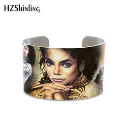 Discount free marilyn monroe paintings Wholesale Elvis Presley UV oil painting bracelet Marilyn Monroe Michael Jackson Abraham Lincolne bangle for men free fem
