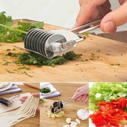 Eco Potato Cutter Australia - Portable Gadget Stainless Steel Vegetable Onion Chopper Slicer Garlic Coriander Cutter Cooking Tool
