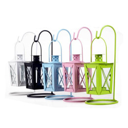 $enCountryForm.capitalKeyWord Canada - Classical Iron Candle Lantern Retro Metal Storm Lantern Glass Hurricane Lamp Romantic Hanging Garden Candle Holder Tealight Holder