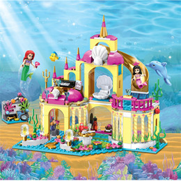 Princess blocks online shopping - Girl Friends Princess Mermaid Ariel Undersea Palace Building Bricks Blocks Sets Toy Compatible With For girl SH190916