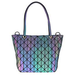 $enCountryForm.capitalKeyWord Australia - New Women Luminous sac Hand Bag Clutch Diamond Tote Geometry Quilted Shoulder Bags Saser Plain Folding Handbags bolso 36*13*25cm
