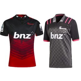 f6b8fc7de3b Top quality 2018 CRUSADERS super rugby training jersey New Zealand Super  Rugby Union Crusaders High-temperature jersey shirts size S-3XL