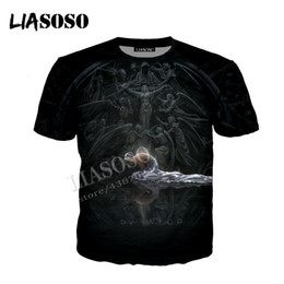 Discount browning knives - LIASOSO latest 3D print polyester sportswear CG art ink painting ghost knife confession angel men women zipper hoodie CX