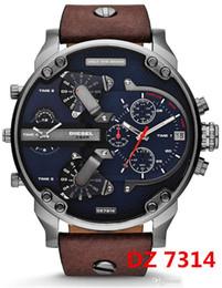 Mens Military Wrist Watches Australia - Hot Sale Fashion dz Big Dial Watch Montre Homme Luxury Brand Men Quartz Watches Reloj Hombre DZ 7313 Military Mens Wrist Watch relogio