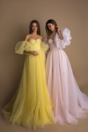 $enCountryForm.capitalKeyWord UK - Fantastic 2019 A-Line Princess Beaded Prom Dresses With Sleeves Sweetheart Neck Zipper Back Long Evening Gowns Cheap Evening Formal Dresses