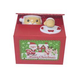Novelty Plastic Glasses Wholesale UK - Santa Claus steals money piggy bank Trump chicken electric coin piggy bank child novelty gift & toy piggy bank