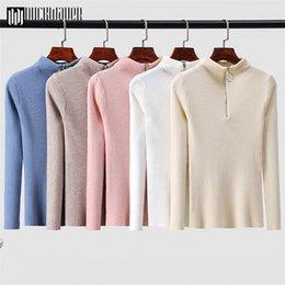 Korean turtlenecK zipper online shopping - Zipper Turtleneck Sweater Korean Womens Sweaters Winter Tops For Women Pullover Autumn Jumper Knitted Sweater Pull Femme