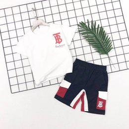 Summer Sportswear Suit Australia - newNew fashion wildest simple summer children's sweater sportswear suit kids clothing