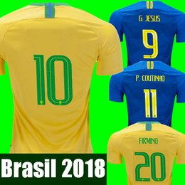 2018 World cup Brasil soccer jerseys men women Brazil Jersey 2018 19 JESUS  COUTINHO FIRMINO MARCELO football kit shirt camisa de futebol 1f57fad08