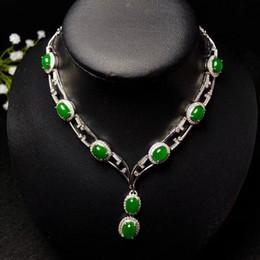 Стерлингового серебра 925 покрытием с 18K золото вечернее платье ювелирные изделия классический восточный стиль натуральный нефрит Ожерелье для женщин