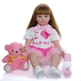 pp housing Australia - 60cm Reborn Baby Doll Toys For Girl Soft Silicone Exquisite Princess Toddler Alive Babies Child Birthday Gift Play House Toy