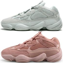 buy popular eca52 22db2 2019 pas cher 500 Desert Rat Blush 500s Sel Super Moon Jaune 3M Utilitaire  Noir Rose Hommes Chaussures de course pour hommes Femmes Baskets de sport