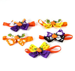 $enCountryForm.capitalKeyWord Australia - New Pet puppy Cat Dog halloween pumpkin cute ghost bow tie accessories necklace collar bowknot necktie grooming for pet supplier decoration