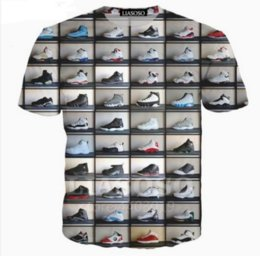 Men's Breathable Summer Shoes Australia - New Fashion Couples Classic Shoes Funny 3D T-shirt Casual Summer Style Men Women Tops Short Sleeve Creative Printed Tees ZC038