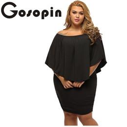 d0891effb1b Gosopin Off Shoulder Summer Dresses Plus Size Multiple Dressing Sexy Black  Mini Dress Vestido Casual Big Women Clothes Lc22820 J190509