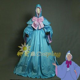 $enCountryForm.capitalKeyWord Australia - The Fairy Godmother Drizella Cosplay Dress Cape Hood Costume Cinderella Cartoon