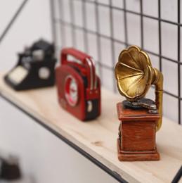 european telephone antique 2019 - Creative MINI Retro Radio Pianos Cameras Telephone Model Antique Imitation Nostalgia Wireless Ornament Craft Bar Home De