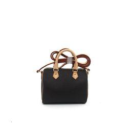 Kostenloser Versand! Canvas echtes Leder Lady Messenger Bag Telefon Geldbörse Mode Satchel Nano Umhängetasche Handtasche 61252