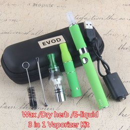 $enCountryForm.capitalKeyWord NZ - HOT Sale EVOD 3 in 1 Electronic Cigarette ecig Starter Kit Wax Oil Pen e Liquid Dry Herb Vapors Ago Atomizers