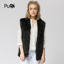08e1ce1493 VT802 16 colors woman girl real rabbit fur vest jacket spring winter warm genuine  rabbit fur knit coat vest black beige