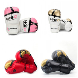 Kids box gloves online shopping - Sanda Boxing Gloves Motion Fitness Mittens Women And Men Glove PU Material Adults Kids Equipment Gold Black ws C1